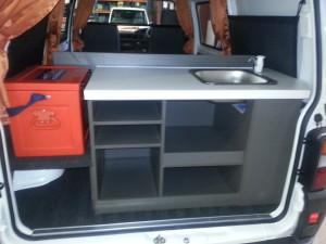 Storage space in new kitchenette