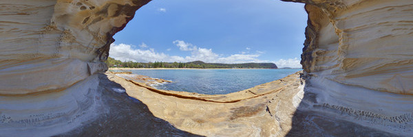 Panorama of Beach, 5, Pearl Beach, New South Wales, Australia
