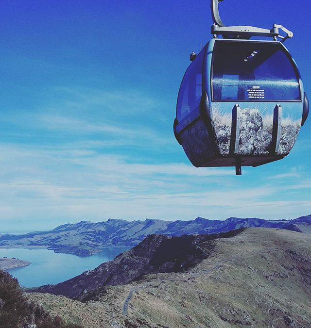 Christchurch Gondola. Road Trip South Island New Zealand in Campervan