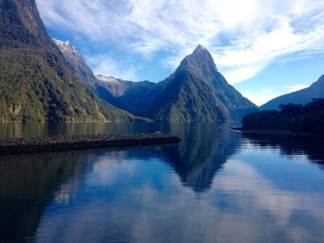 Milford Sound. Road Trip South Island New Zealand in Campervan