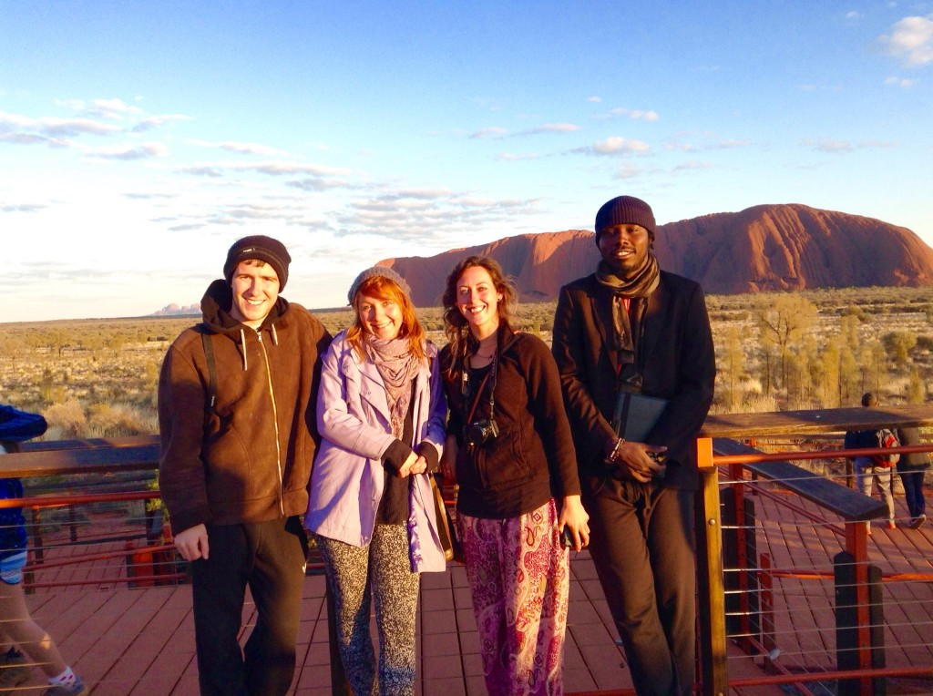 pic 5 - leaving uluru