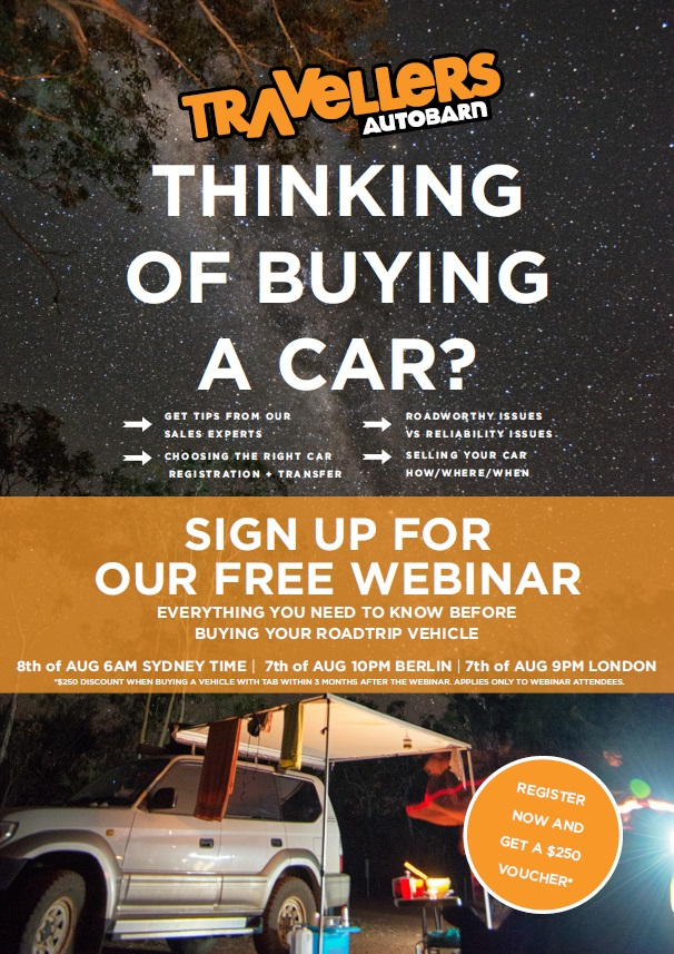 Live Backpacker Car Sales Webinar