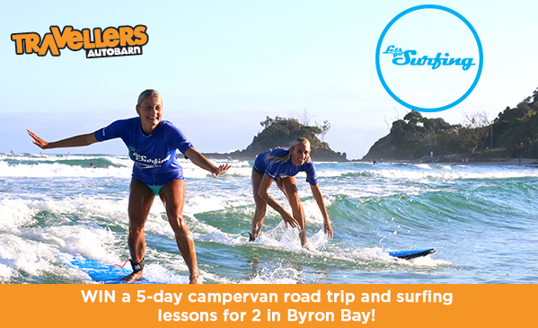 WIN a 5-day Road Trip and Surfing Lessons for 2 in Byron Bay!