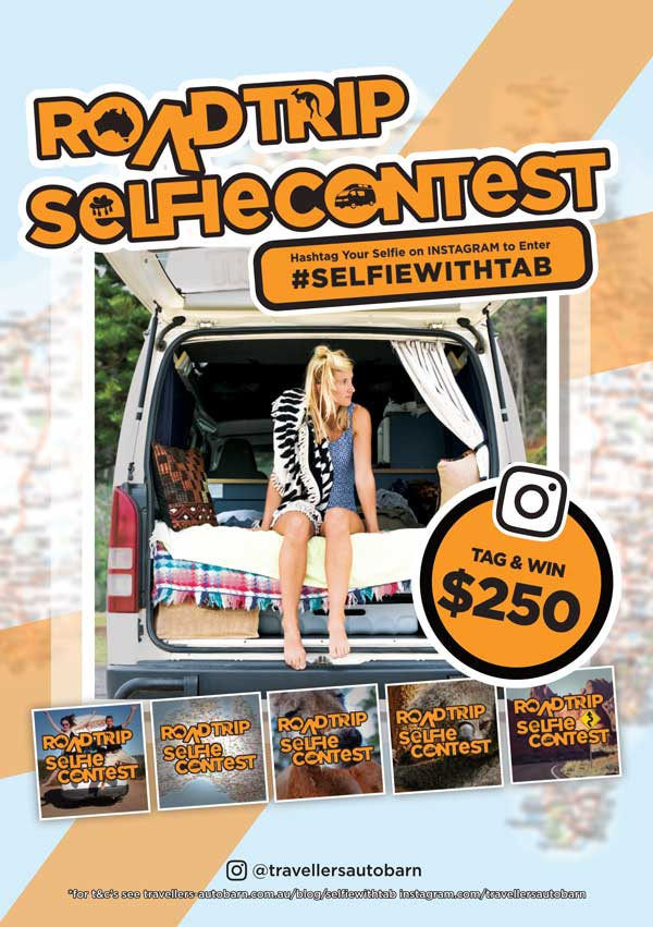 Travellers Autobarn Selfie Competition Win $250