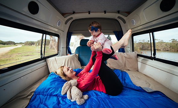 Tips for Travelling in a Campervan with Kids