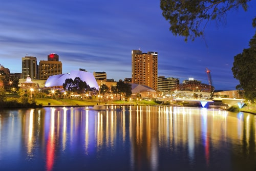 adelaide south australia skyline