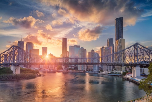 Brisbane Skyline Sunset