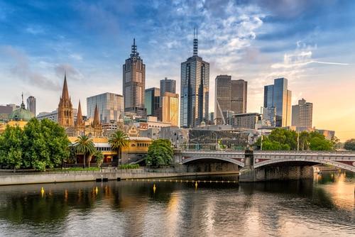 Melbourne Victoria Skyline