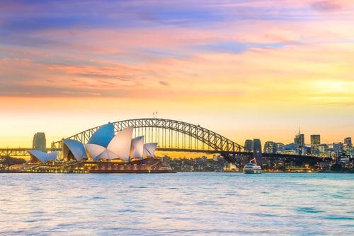 Sydney Harbour Skyline at Sunset